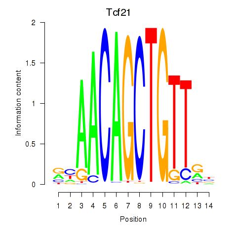 ISMARA results: Tcf21_Msc